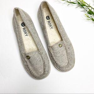 Roxy- Women's grey Slip on Shoes - Size 6